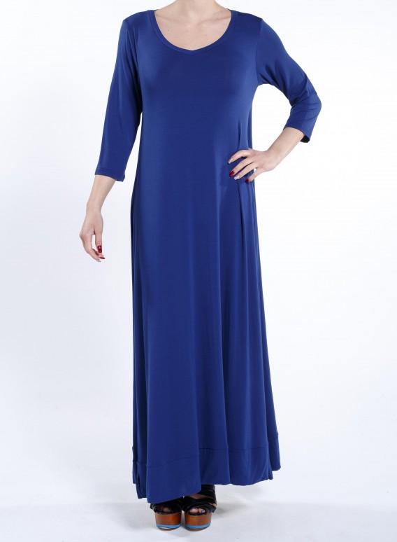 """Φόρεμα """"Aria"""" 3/4 sleeve maxi ελαστικό"""
