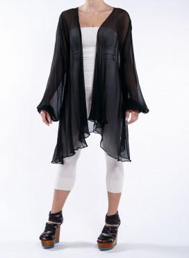 Jacket 1 seam chiffon 100%silk